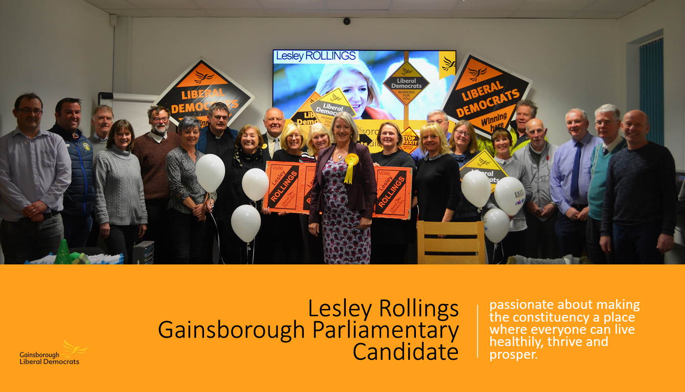 Lesley Rollings candidacy for Gainsborough Parliamentary Election (B Velan)